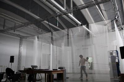 "Aniara Rodado presents her interactive audiovisual piece ""Fotograma"" this Saturday 17th"