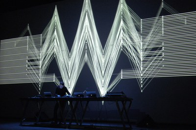 Live Performance by Kangding Ray and Fernando Gutiérrez + .tape. at LABoral