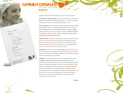 Carmen Camacho will feature in a new master session in the Laboratorio de la PaLABra this Monday