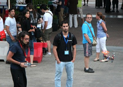 The Maker Faire in Bilbao hosted a demonstration of Flone, the winning flying mobile of the call Next Things 2013