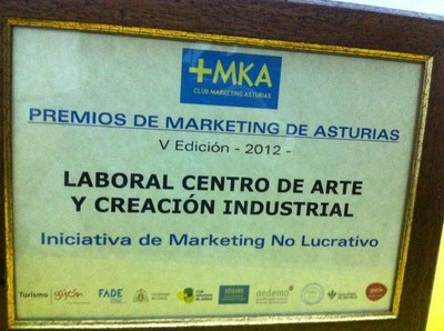LABoral receive the Best Non-profit Marketing Initiative Award for its Fifth Anniversary communication campaign