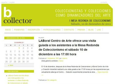Alicia Aza, Fernando Fernández, Narcís Pujol and Jaime Sordo will speak about collecting at LABoral