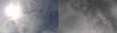 Los ojos en la nube