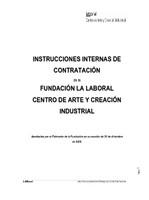 Instrucciones de contratación de la Fundación Laboral Centro de Arte y Creación Industrial
