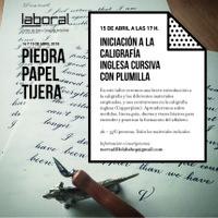 Taller: iniciación a la caligrafía inglesa cursiva con plumilla