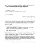 Programa Archivos y mediatecas