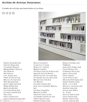 Versión web del Archivo de Artistas Asturianos
