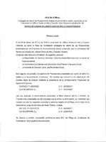 Acta adjudicación del contrato de servicios de limpieza