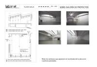 Plano Galería de exposiciones