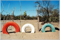 Mexico. Painted Tyres (2006)