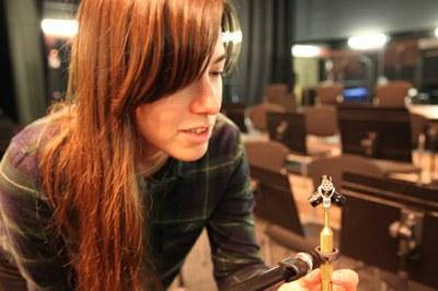 Andrée-Anne Roussel presenta la instalación sonora 'Afinando'
