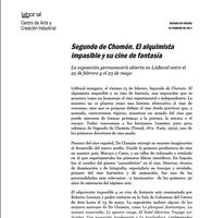 Dossier de prensa 'El alquimista impasible y su cine de fantasía'