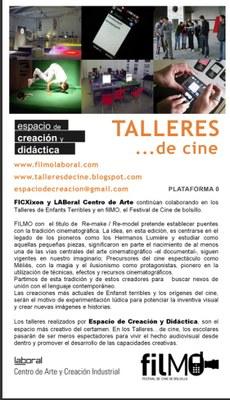600 escolares asturianos participarán en LABoral en Talleres… de cine